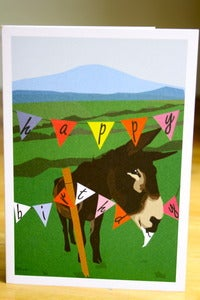 Image of Donkey Birthday - Greeting Card