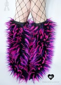 Image of Festival fluffies uv black/neon pink/purple