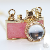 Image of Camera Crystal Necklace