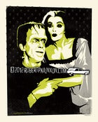 Image of Homage Print: Lily and Herman Munster