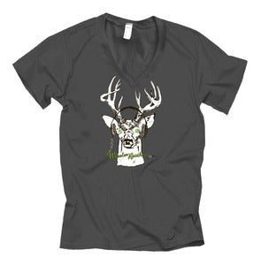 Image of Deer Tee Asphalt V-Neck Unisex