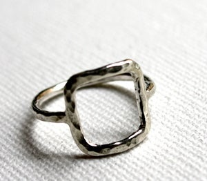 Image of Sterling Silver Square Ring