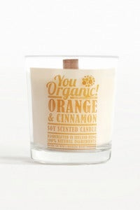 Image of Orange & Cinnamon Soy Woodwick Candle
