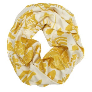 Image of Sovay Lemon. Single Loop Infinity Scarf
