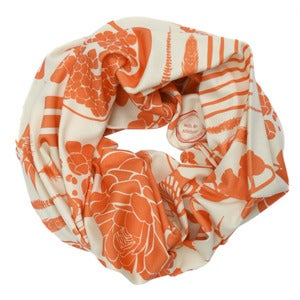 Image of Sovay Grapefruit. Single Loop Infinity Scarf