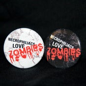 Image of Necros love zombies button
