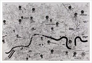 Image of We love you London print