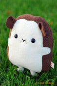 "Image of  Flat QT the Hedgehog Plush (Classic 8"") More Colors Available - Handmade"