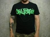 Image of ORAL FISTFUCK - Logo Shirt Green Print