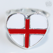 Image of I Love England Enamel Ring