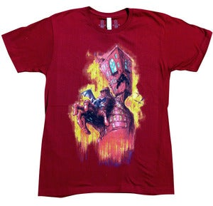 Image of The Breathing Architecture Cranberry | By Alex Pardee  | T Shirt