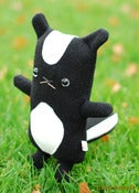 "Image of Flat Flash the Skunk Plush (Classic 10"") Handmade"
