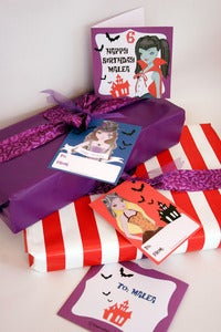 Image of Vampire High Birthday Card Set