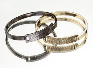 Image of SUMMER GOLD / GUNMETAL BRACELET DUO