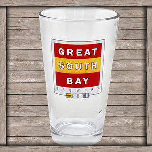 Image of Great South Bay Logo 16 oz. Pint Glass