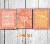 "Image of Typography Art Print: ""You are my sunshine"" 8x10 Quote Poster  - set of 3 prints"