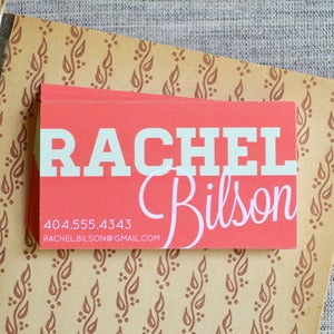 Image of Rachel Bilson Calling Cards in Coral and Mint