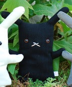 "Image of Flat Bonnie Bunny Plush - Ninja Black (Classic 12"") Handmade"