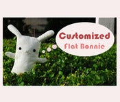 "Image of Customized Flat Bonnie Bunny Plush (Large 17""-24"")"