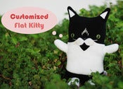 "Image of Customized Flat Kitty Cat Plush (Classic 11"")"