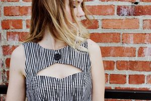 Image of Sweet Heart Cut Out Dress - Gingham Check - S