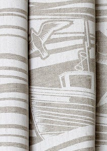 Image of Whitby Linen Fabric - White