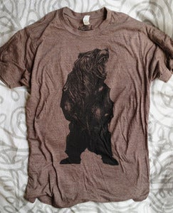 Image of Bear Tri Blend T Shirt