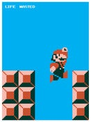 Image of Life Wasted Super Mario Bros. poster
