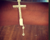 "Image of ""Purity"" White Cross Bracelet"