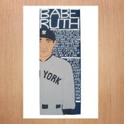 Image of Will Johnson: Limited Edition Baseball Print - Babe Ruth
