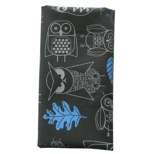 Image of Night Owls Napkins {charcoal-set 4}