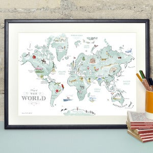 Image of Illustrated World Map