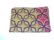 Image of Urbanknit zipper pouch - gold/red print