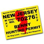 Image of Hunting Permit Sticker