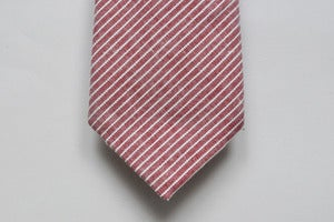 Image of RED STRIPED CHAMBRAY TIE - LS004