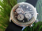 Image of VINTAGE VULCAIN CHRONOGRAPH VALJOUX 730 movement STEEL - SOLD!