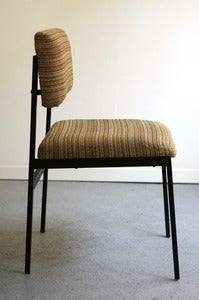 Image of CHAISE EN TISSU ANNES 60 STYLE SCANDINAVE - REF.1021