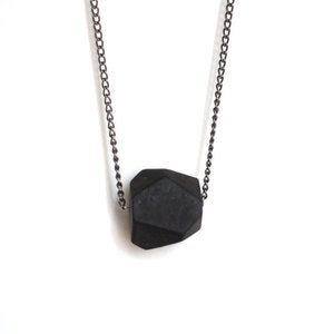Image of Faceted Matte Onyx Necklace