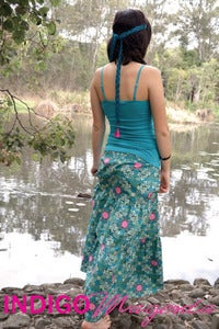 Image of Bohemian Rhapsody Tiered Maxi Skirt