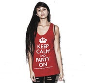 Image of Keep Calm and Party On Unisex Tank