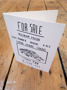 Image of Millenium Falcon - Greetings Card
