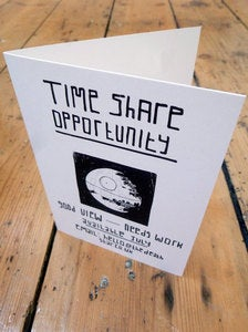 Image of Time Share Opportunity/Death star - Greetings Card
