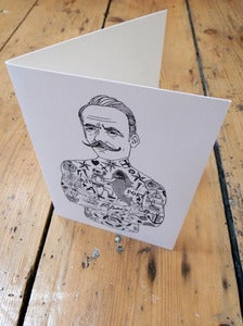 Image of Tat Man Greetings Card