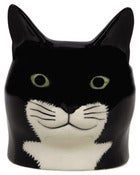 Image of BLACK AND WHITE CAT EGG CUP