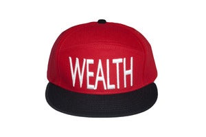 Image of Wealth Snap Back -Red/White
