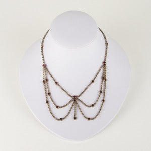 Image of Hobé Festoon Brass and Garnet Necklace