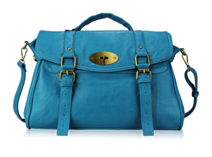 Image of Teal Faux Leather Satchel
