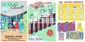 Image of Patton Oswalt 2011 show posters - 3 for $20!