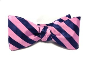 Image of Pink and Blue Gatsby Bow Tie