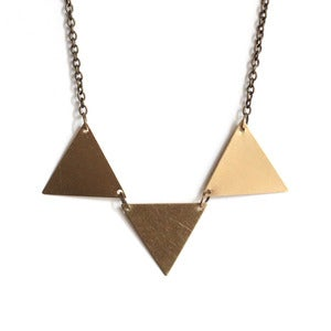 Image of Brass Bunting Necklace